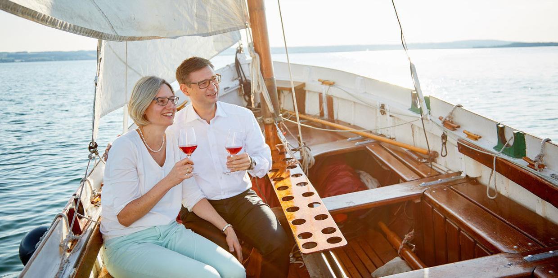 YachtFoto mit Paar